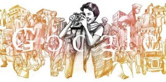 Who is Homai Vyarawalla featured in today's Google Doodle