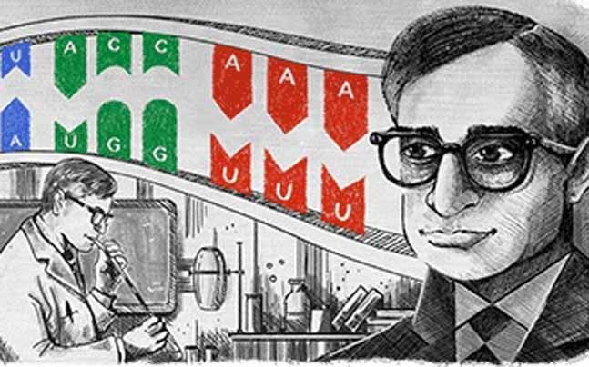Google Doodle Honours Har Gobind Khorana On His 96th Birth Anniversary