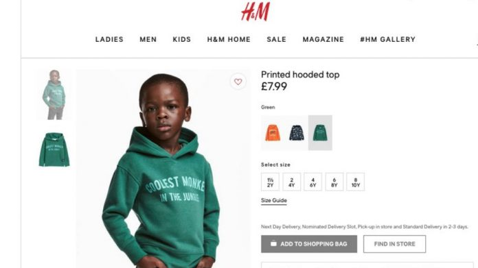 H&M apologises for using black child as model for 'coolest monkey in jungle' sweatshirt