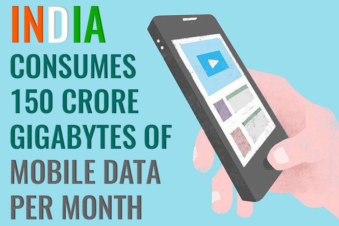 India consumes most mobile data per month in world