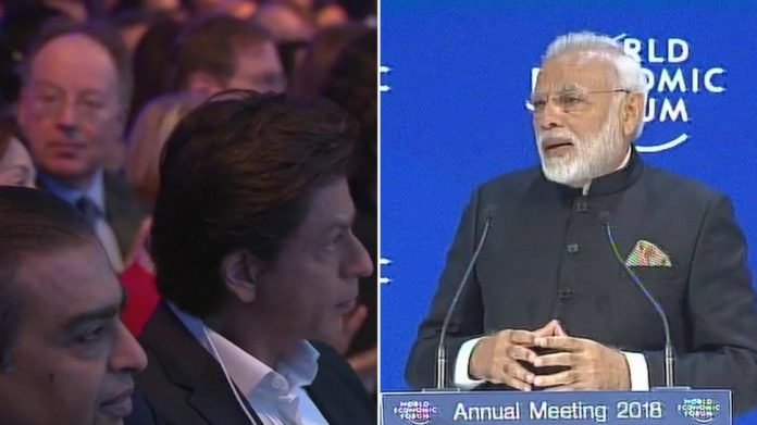 Mukesh Ambani, Shah Rukh Khan in audience as PM Modi addresses WEF in Davos