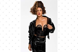 Priyanka Chopras Paper Magazine graphic eye makeup look