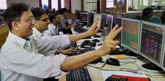 Sensex ends at new high of 34,592 Nifty at record 10,681