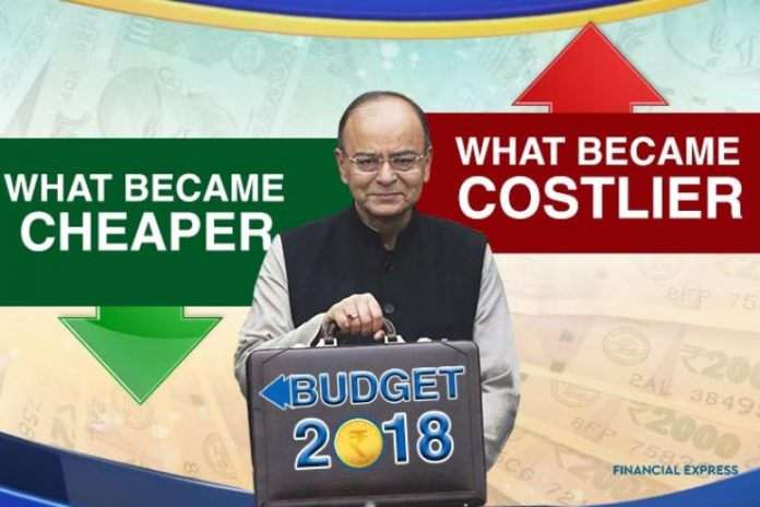Budget 2018 Here's what's costlier, what's cheaper