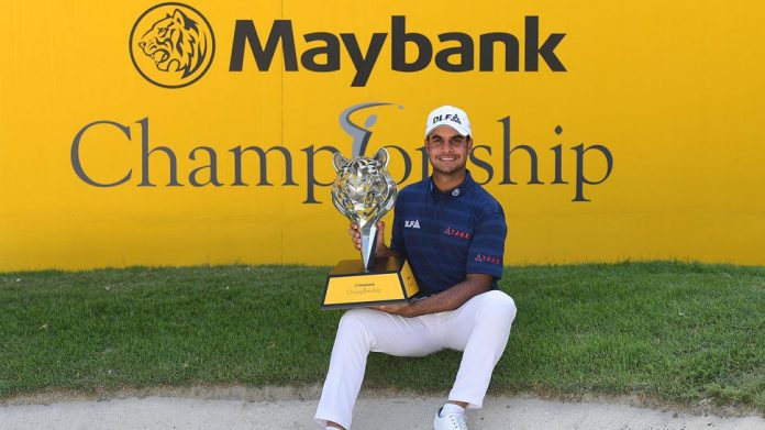Golf Shubhankar Sharma wins Malaysia title after stunning final round