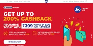 Reliance Jio offering 200% cashback on recharges above Rs 398
