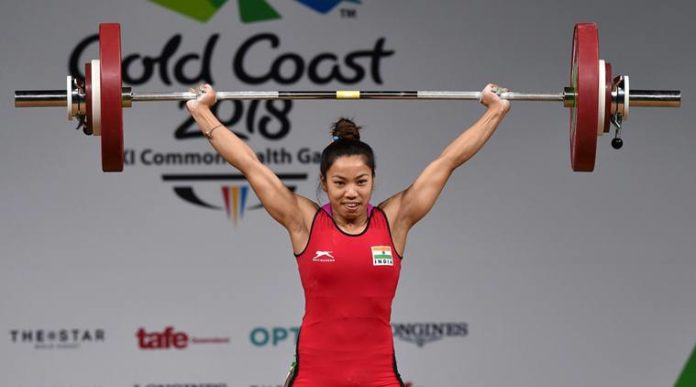 CWG 2018 - Chanu Saikhom in 48kg weightlifting