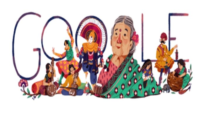 Google marks freedom fighter Kamaladevi Chattopadhyay's 115th birth anniversary with doodle