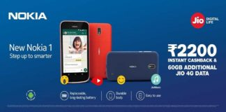 Nokia 1 with Reliance Jio Rs 2,200 cashback! Here's how you can avail this offer