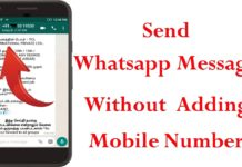 Send WhatsApp messages without saving the contact