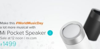 XIAOMI LAUNCHES THE MI POCKET SPEAKER 2 IN THE INDIAN MARKET AT RS 1,499