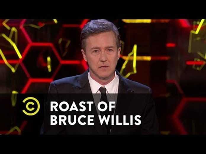 Edward Norton Zings Marvel a Few Times During Bruce Willis Roast