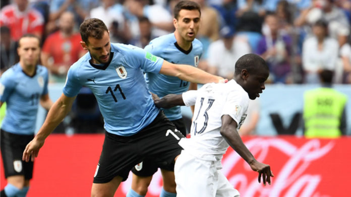 France defeat Uruguay 2-0 to enter semis of FIFA World Cup 2018