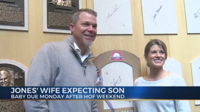 Not long after Chipper Jones' Cooperstown induction, he will meet his new son Cooper