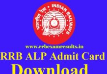 RRB ALP Admit Card 2018 released Download here
