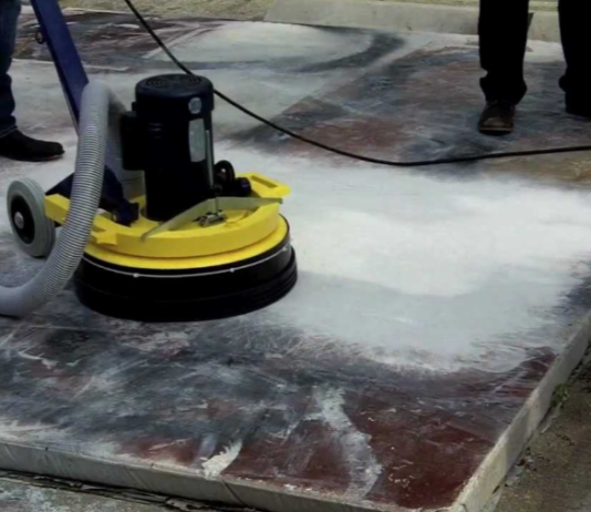 concrete polishing machine
