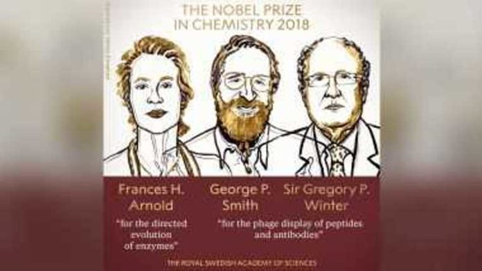 2018 Nobel Prize in Chemistry awarded to Frances Arnold, George Smith and Sir Gregory P. Winter for 'harnessing power of evolution'