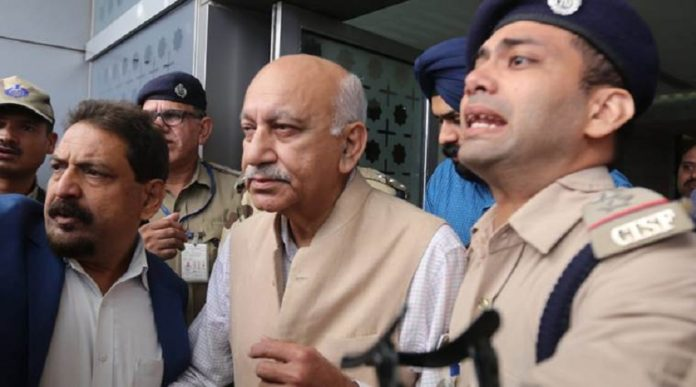 #MeToo in India Congress workers protest outside MJ Akbar's Delhi home, demand his resignation