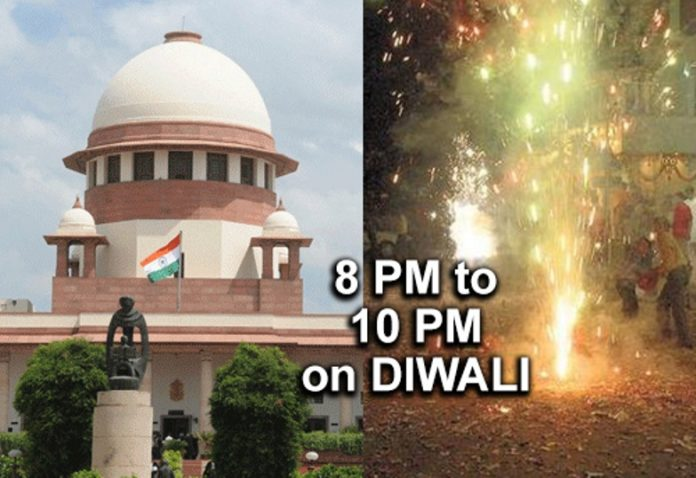 Supreme Court allows firecrackers from 8 pm to 10 pm on Diwali, for an hour on Christmas and New Year