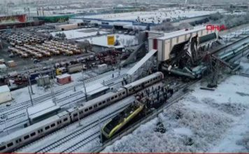 4 dead, 43 injured after high-speed train crashes into overpass in Turkey