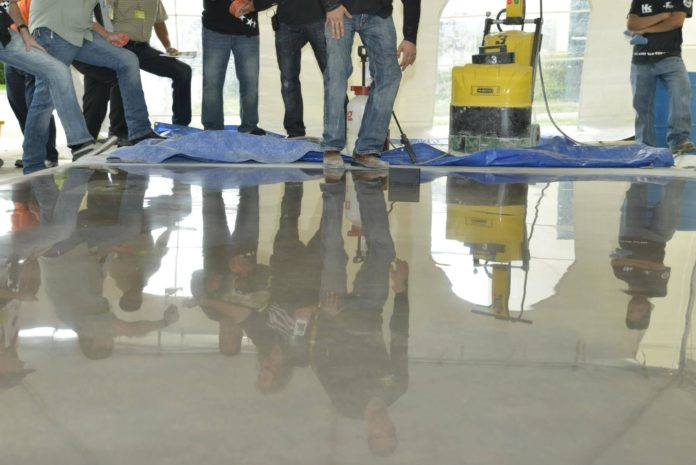 Epoxy Coatings, Burnishing Pads, and Chemical Hardeners - Concrete Floor Enhancers