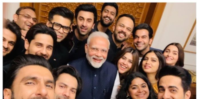 PM Narendra Modi's epic selfie with top Bollywood stars calls for a freeze frame!