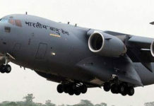 IAF's C-17 aircraft arrives in Srinagar to bring mortal remains of Awantipora attack martyrs