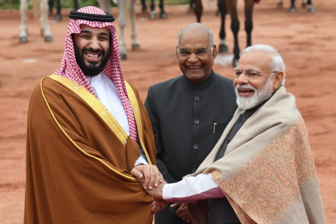 Saudi Arabia's Crown Prince Mohammed bin Salman receives ceremonial welcome, set to hold talks with PM Narendra Modi