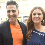 Akshay Kumar-Parineeti Chopra visit capital city in style, promote 'Kesari'