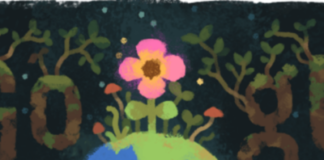 Google celebrates spring equinox with a doodle
